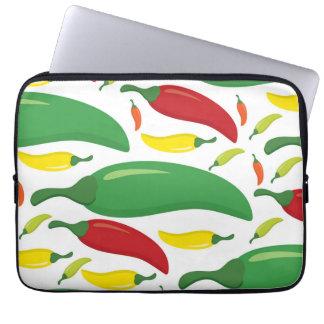 Chili pepper pattern laptop sleeve