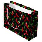 Chili Pepper pattern large gift bag