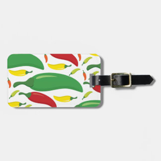 Chili pepper pattern luggage tag