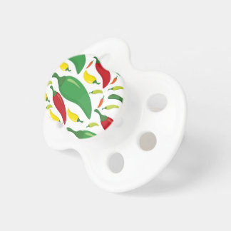 Chili pepper pattern pacifier