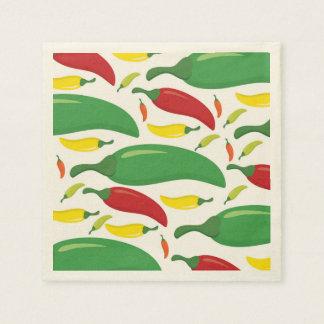 Chili pepper pattern paper napkin