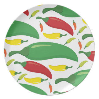 Chili pepper pattern party plates