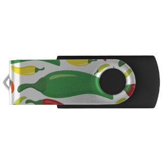 Chili pepper pattern USB flash drive