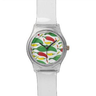 Chili pepper pattern watch
