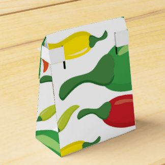 Chili pepper pattern wedding favor boxes