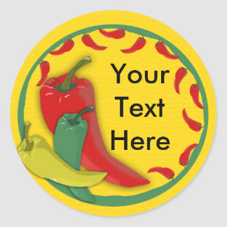 Chili Pepper Round Sticker