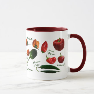 Chili Pepper Varieties Mug
