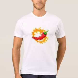 Chili pepper with flame t-shirt