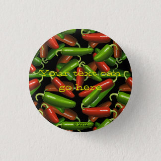 Chili Peppers 1 Inch Round Button