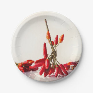 Chili Peppers 7 Inch Paper Plate