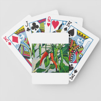 Chili Peppers Bicycle Playing Cards