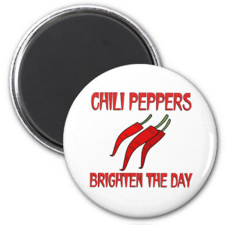 Chili Peppers Brighten the Day Magnet