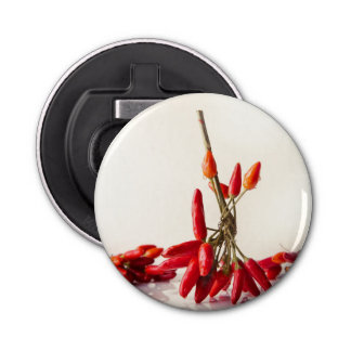 Chili Peppers Button Bottle Opener