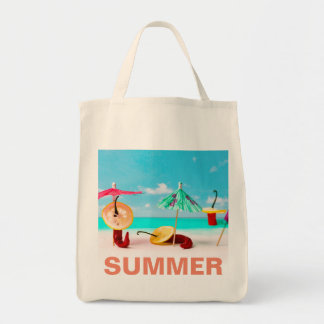 Chili Peppers By The Sea Tote Bag