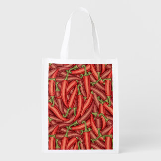 Chili Peppers Grocery Bags