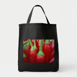 Chili Peppers Grocery Tote Canvas Bags