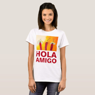 Chili Peppers Hola Amigo Funny customizable T-Shirt