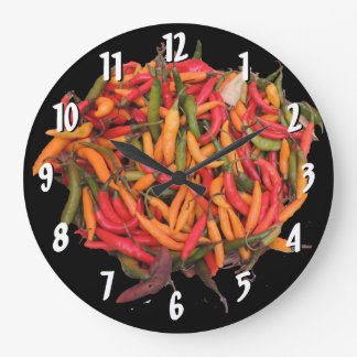 Chili Peppers in Many Colors Clocks