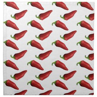 Chili peppers napkin