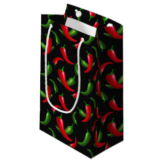 Chili peppers pattern small gift bag