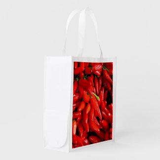 Chili Peppers Reusable Grocery Bag