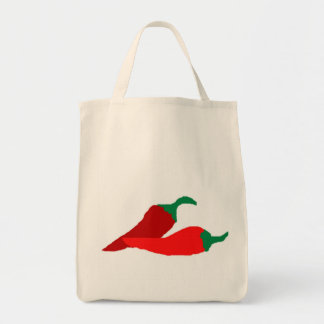 Chili Peppers Tote Grocery Tote Bag