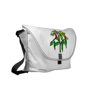 Chili Plant Many Peppers Graphic Courier Bags