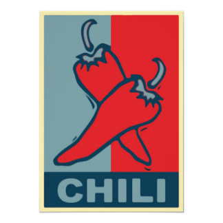 Chili Red and Blue Card