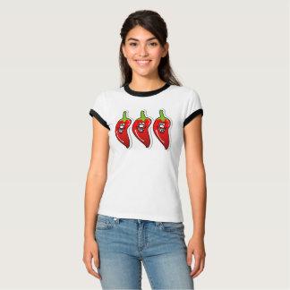 Chili Smile *Ringer women T-Shirt