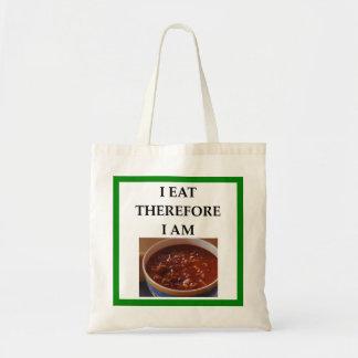 chili tote bag
