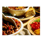 Chili with Cornbread Postcard