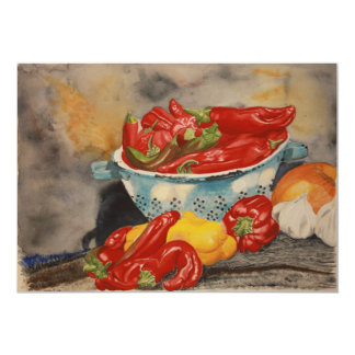 Chilies! 5x7 Paper Invitation Card