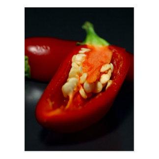 chilies-seeds,still-life postcard