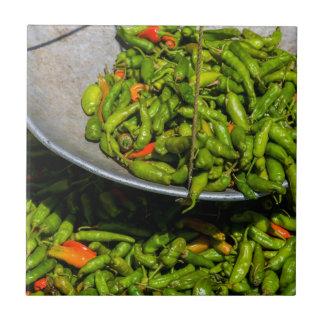 Chilis At Market For Sale Tile