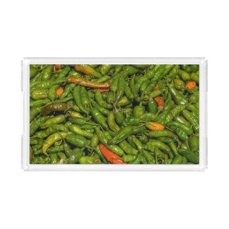 Chilis For Sale At Market Acrylic Tray