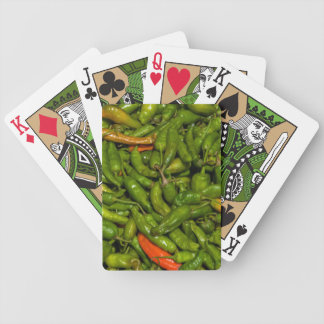 Chilis For Sale At Market Bicycle Playing Cards