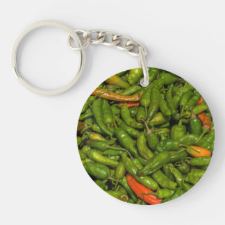 Chilis For Sale At Market Keychain