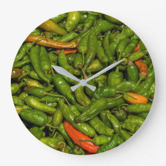 Chilis For Sale At Market Large Clock