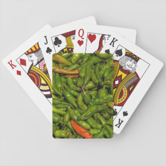 Chilis For Sale At Market Playing Cards