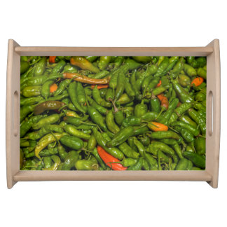 Chilis For Sale At Market Serving Tray