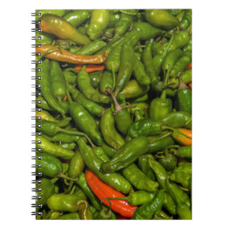 Chilis For Sale At Market Spiral Notebook