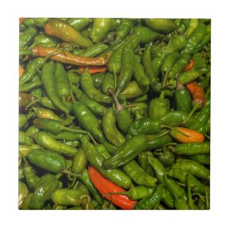 Chilis For Sale At Market Tile
