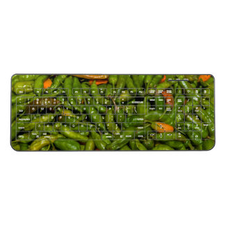 Chilis For Sale At Market Wireless Keyboard