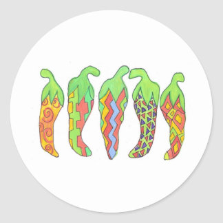 Chilis Incognito Classic Round Sticker