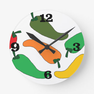 chilitos de colores round clock