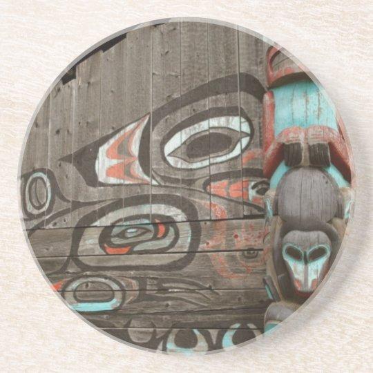 Chilkat Tribal House Coaster