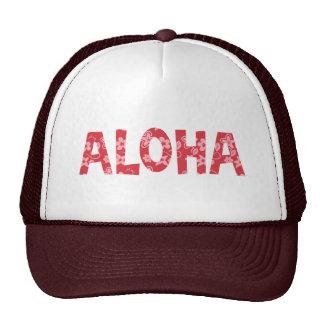 Chill Aloha Floral Pattern Trucker Hat