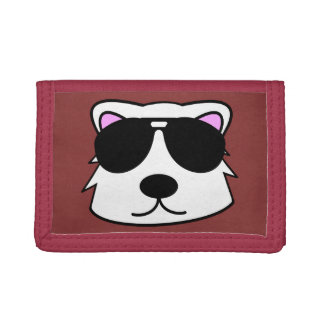 Chill Bear Red Trifold Wallet