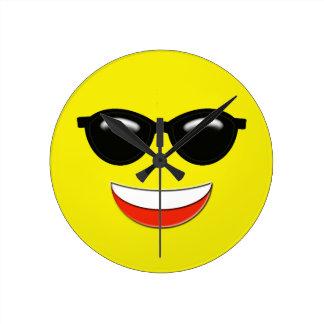 Chill Emoji Round Clock