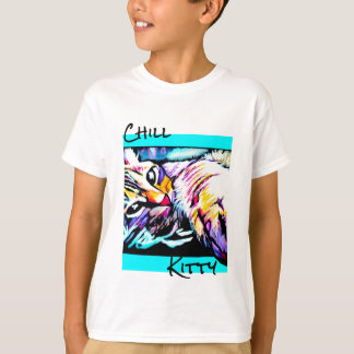 chill kitty purple T-Shirt